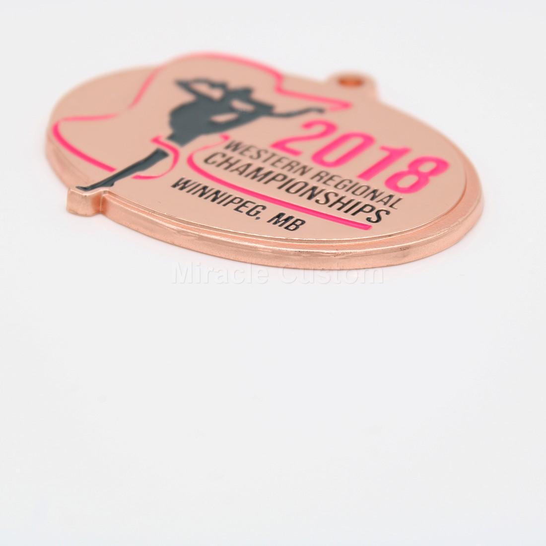 Custom Shiny Copper Medals