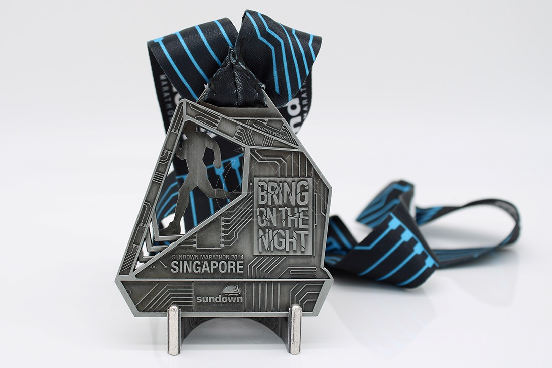 Custom 21.1km finisher medals