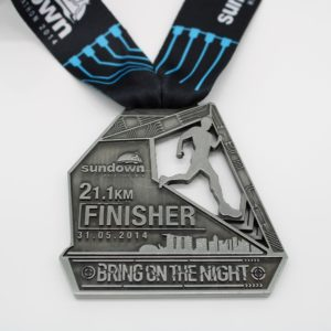 Custom 21.1km finisher medals