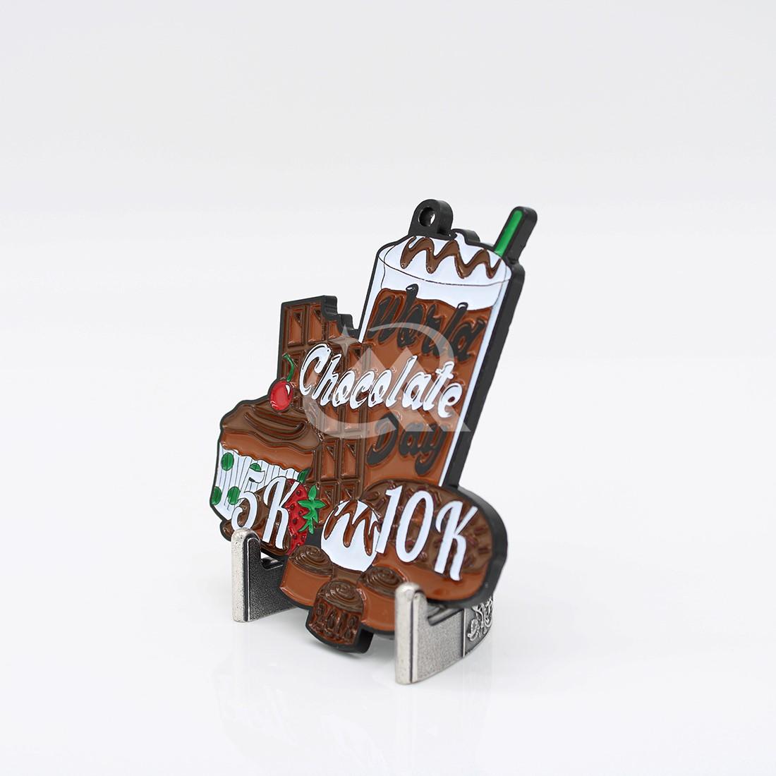 Custom Chocolate Run 10K Medals