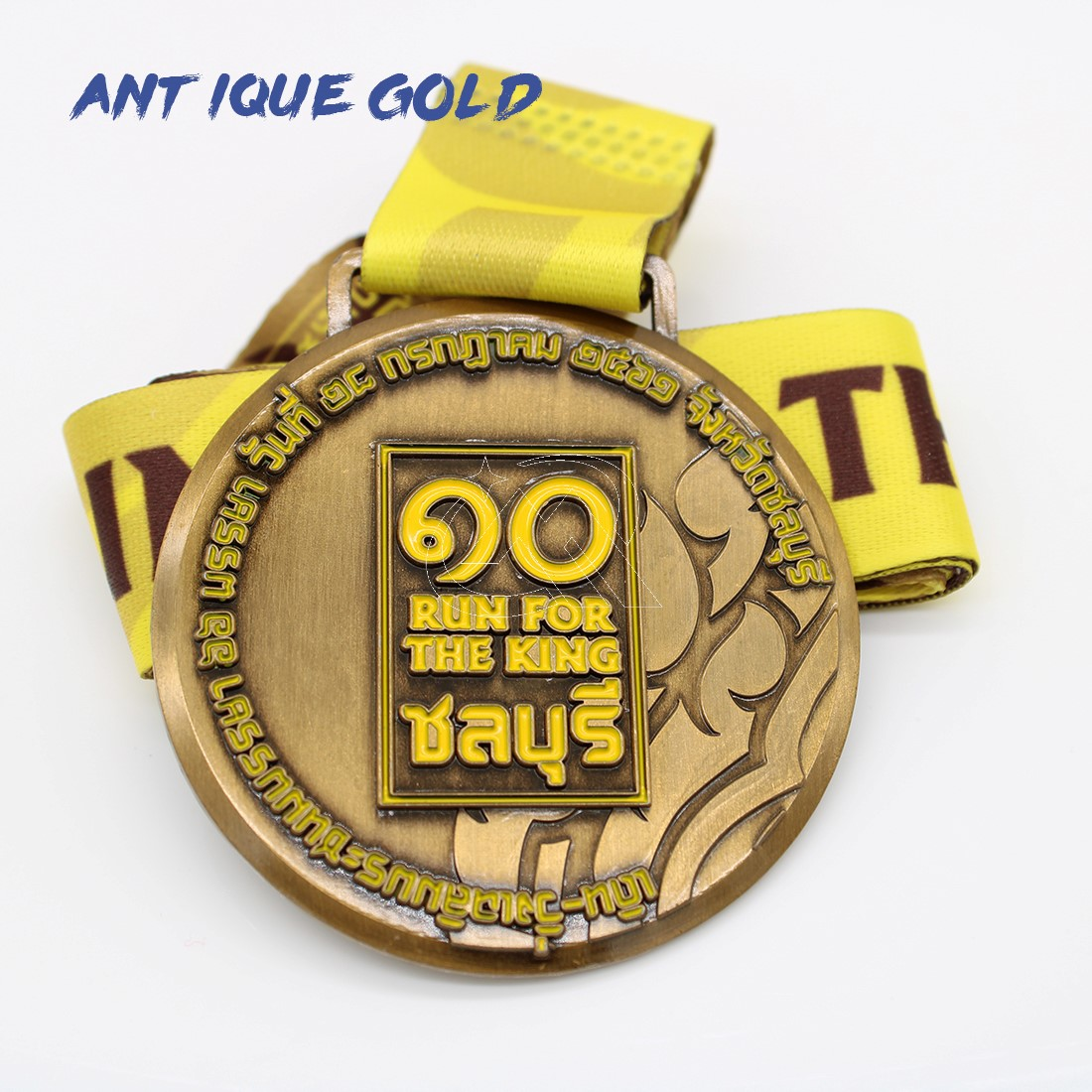 custom antique gold medals