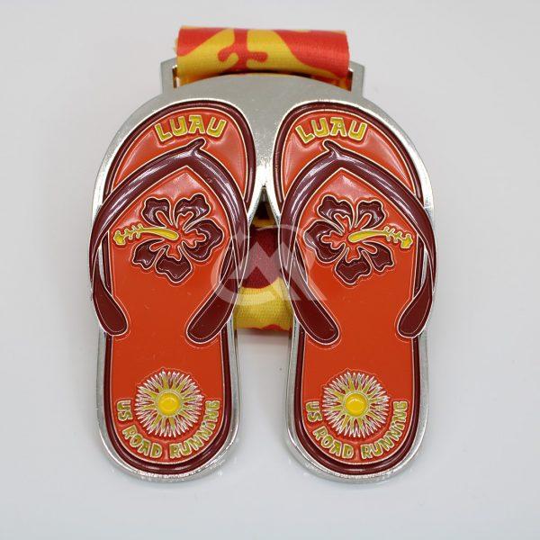 custom slipper shape medals running medals
