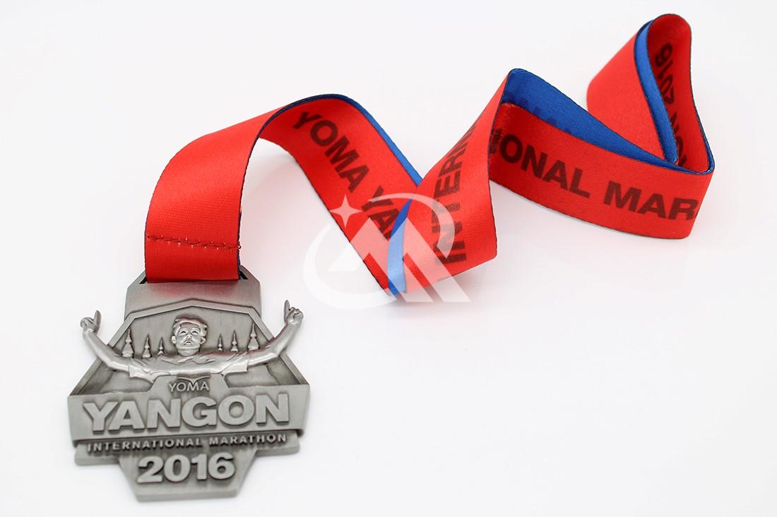 Custom Yangon Marathon Medals